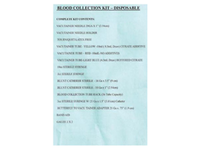 Product Image: Medco Disposable Blood Collection Kit (BSK55001)